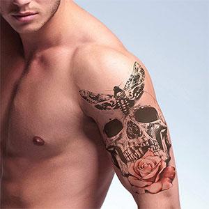 Tatuajes temporales de moteros
